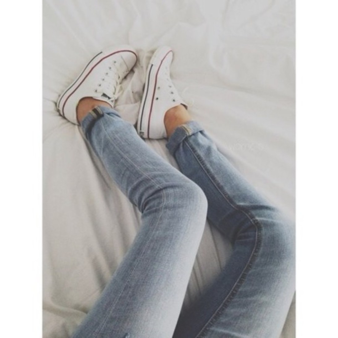 cute jeans and Converse