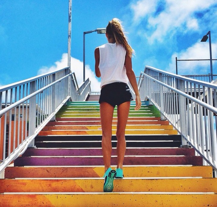 cool colorful stairs photo