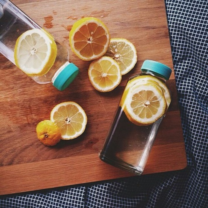 cool lemon water set up