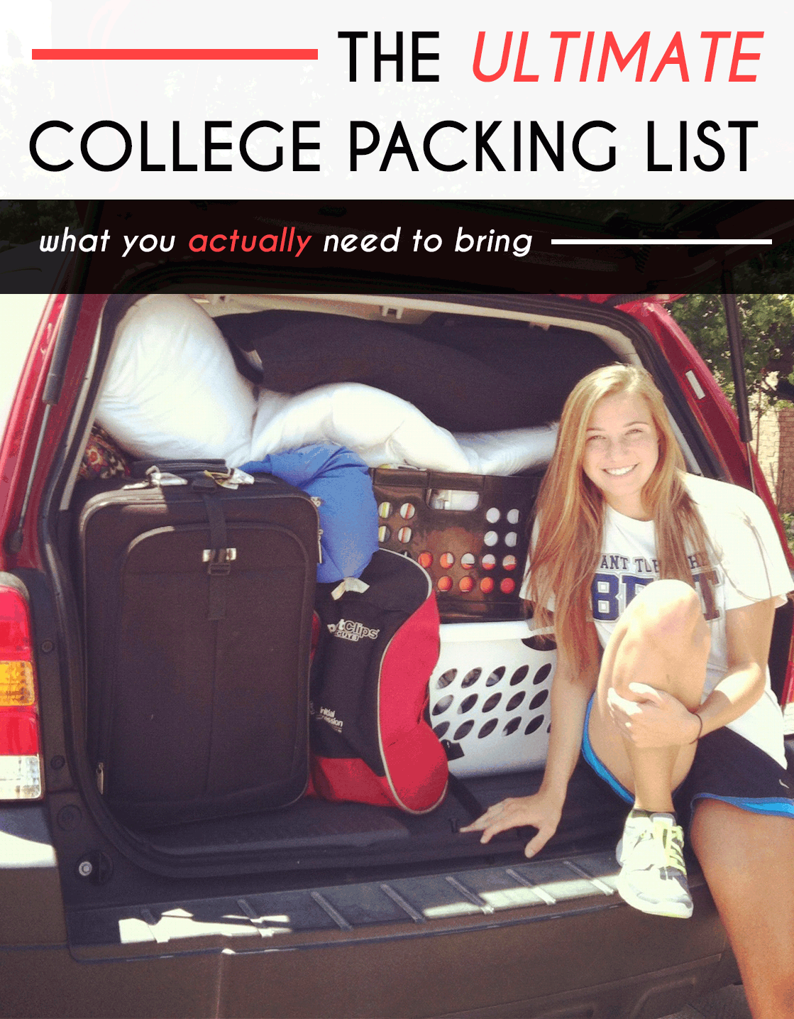 This is the The Ultimate College Packing List For Freshmen!