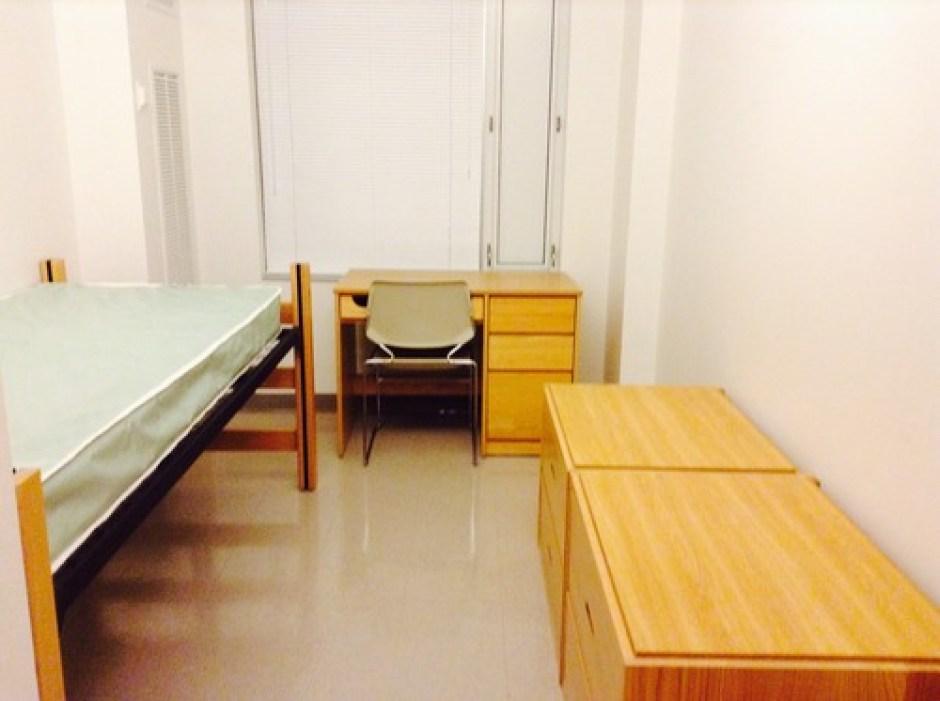 Northeastern International Village Dorm Room