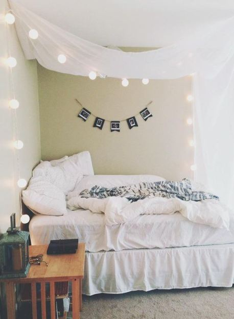 Simple Tapestry Above Bed