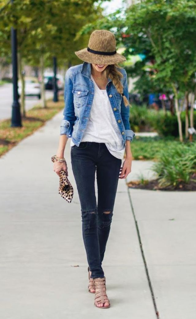 Denim jackets are perfect to add to your back to school outfits!