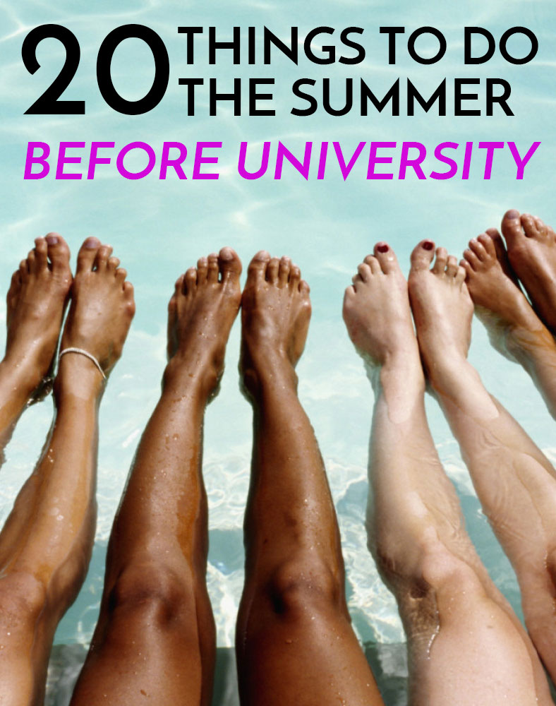 Great list of things to do before university starts!