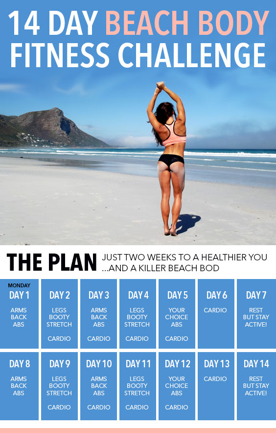 the 14 day beach body fitness challenge society19