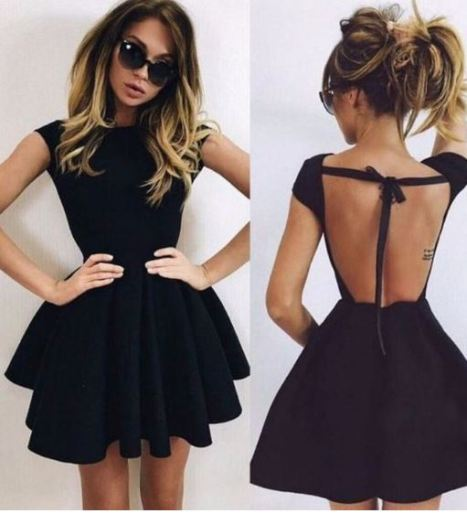 This little back dress is so cute with the back detailing!