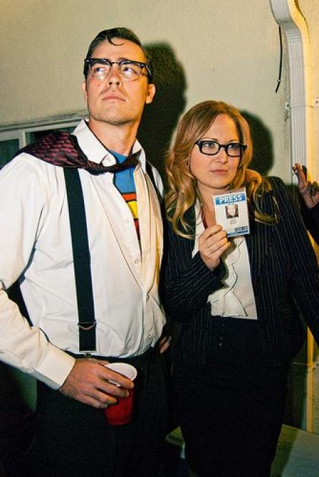 This Lois Lane and Clark Kent costume is one of the best couples Halloween costume ideas!