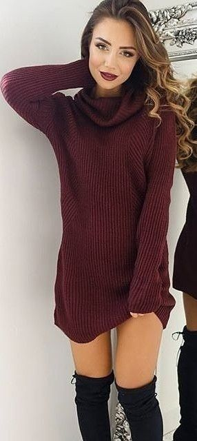 I love this sweater dress!