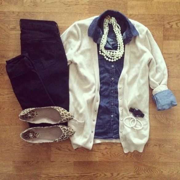 Fall sweaters - cute and preppy cardigan