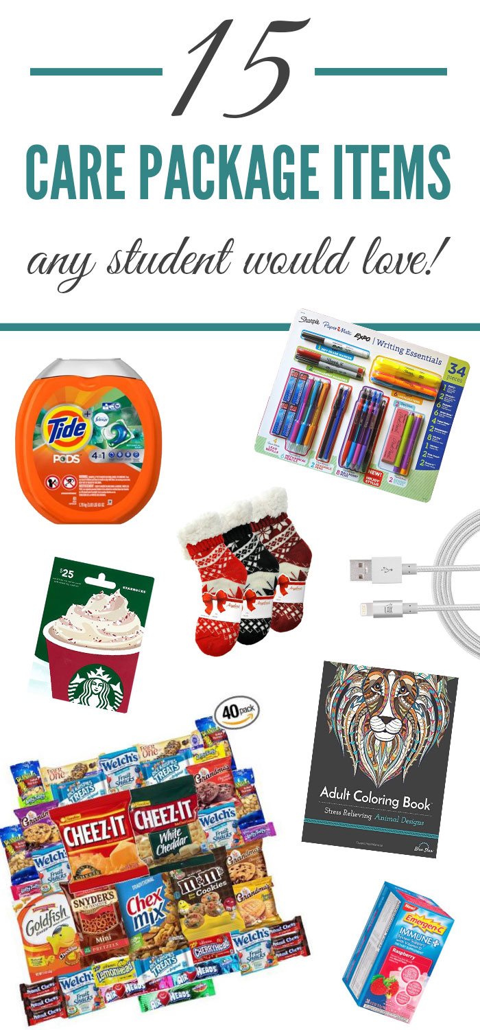 These are great college care package ideas!