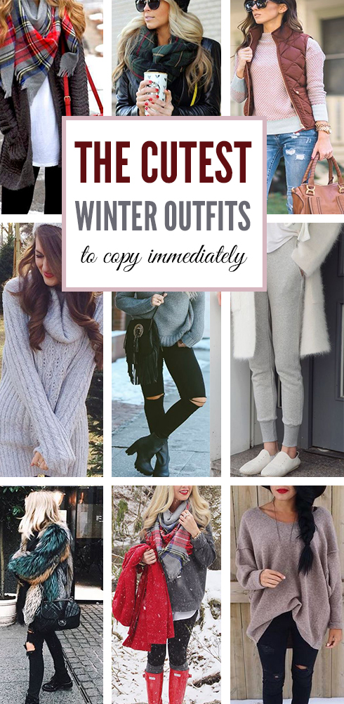These cute winter outfits are so adorable!