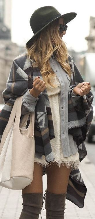 Blanket scarves complete any fall outfit!