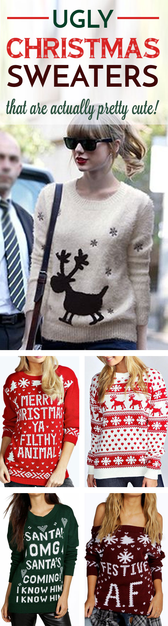 These cute ugly Christmas sweaters are actually pretty stylish!
