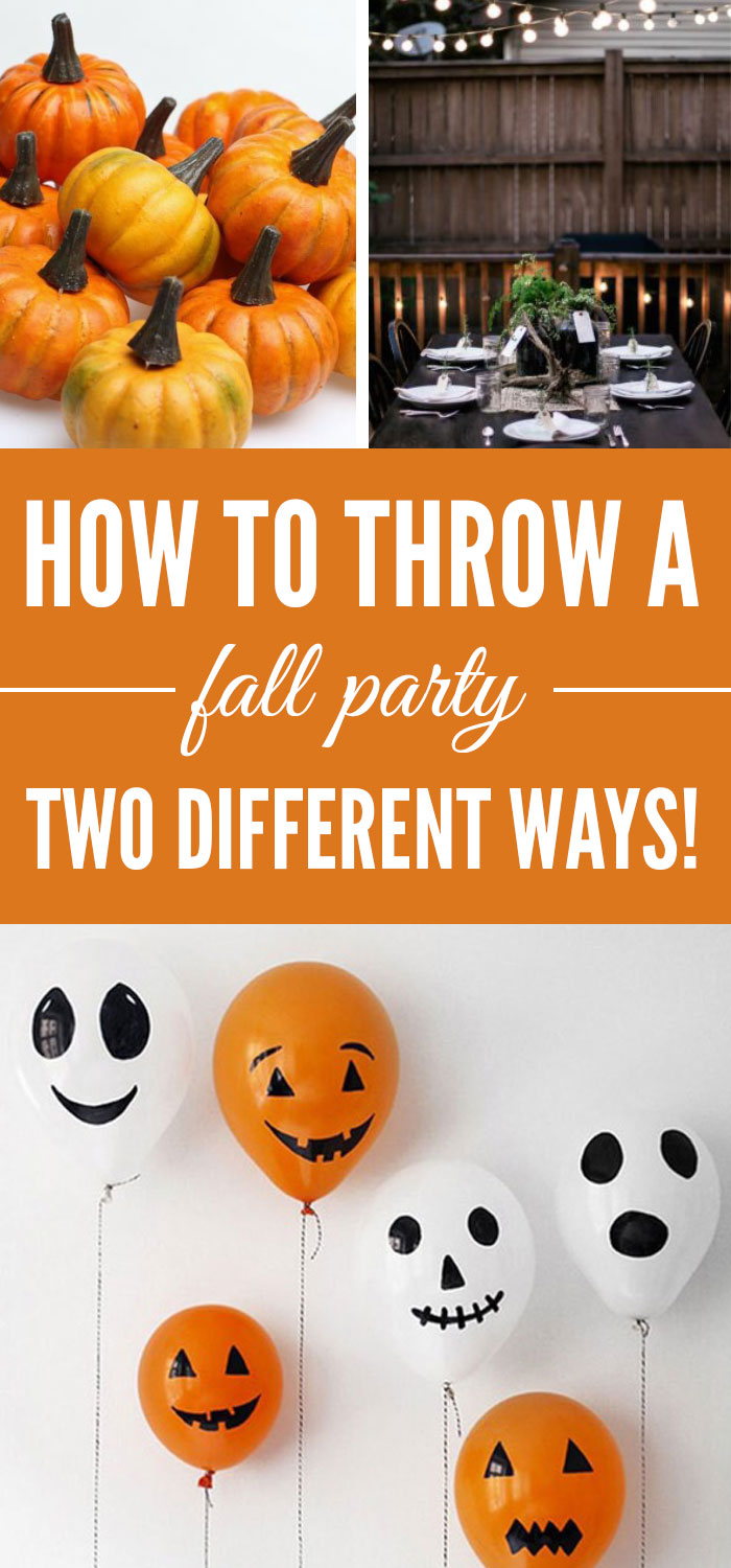 How To Throw A Fall Party Two Different Ways - Society19
