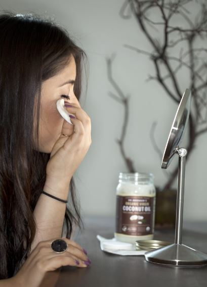 coconut oil is a great alternative to makeup remover!