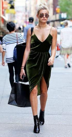 I love this velvet dress for the holidays!