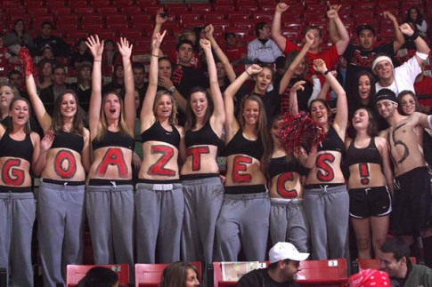 Aztec pride is one of the most important signs you go to SDSU!