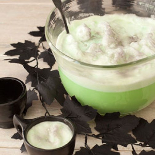just add some lime flavored alcohol or even an unflavored one mix up this drink in a witchs cauldron to give it that full halloween effect - Halloween Punch Alcoholic