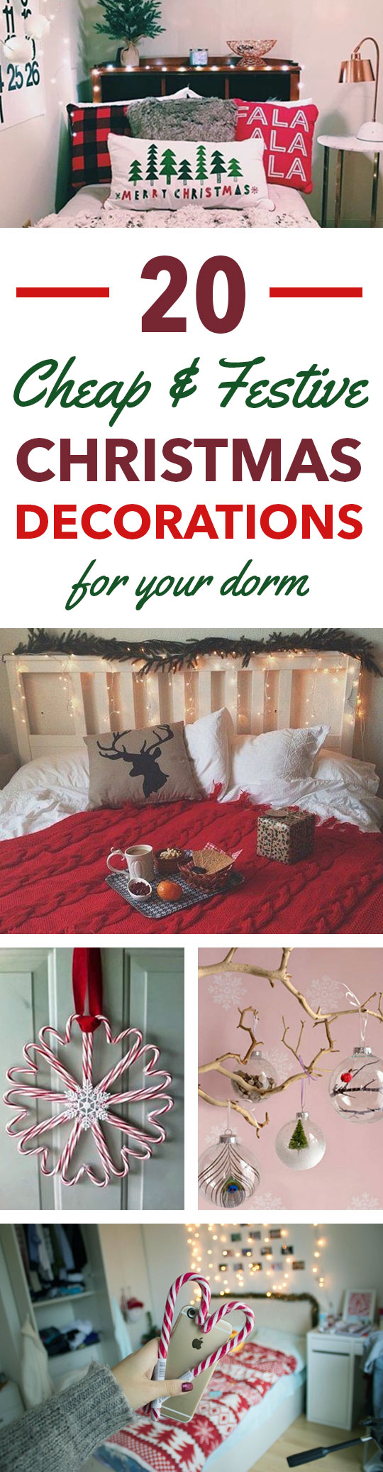 20 Cheap Festive Items To Decorate Your Dorm For