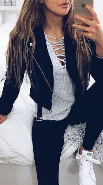 Lace up tops are definitely fall fashion must haves!