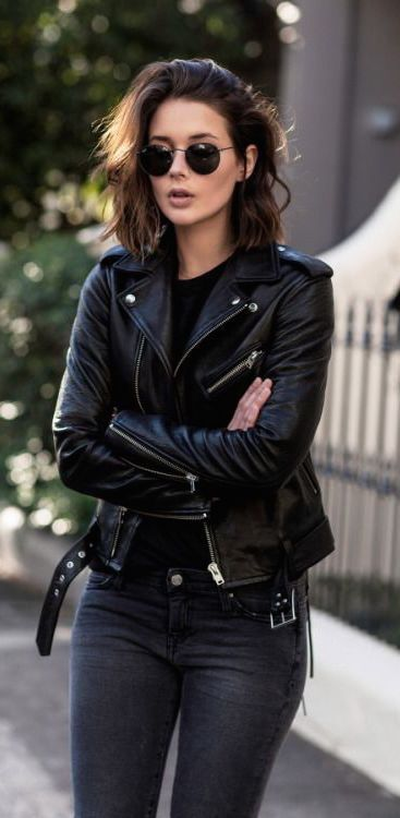 Adding a leather jacket to anything makes your outfit!