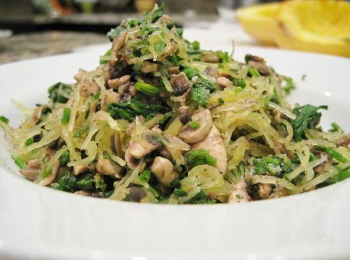 mushroom-spinach-spaghetti-squash