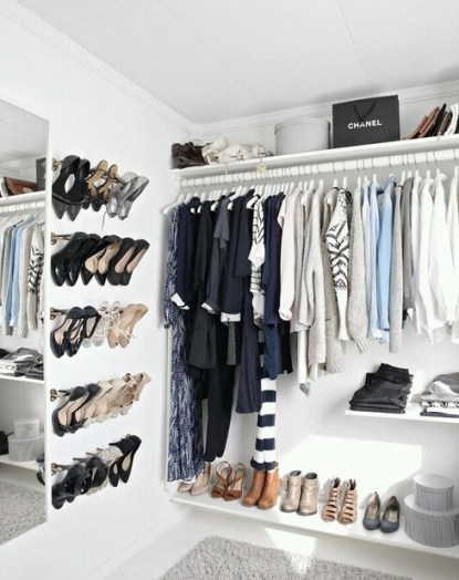 Organizing your closet is so satisfying!