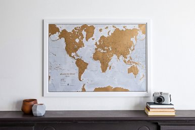 Anything map related makes for great gifts for college students!