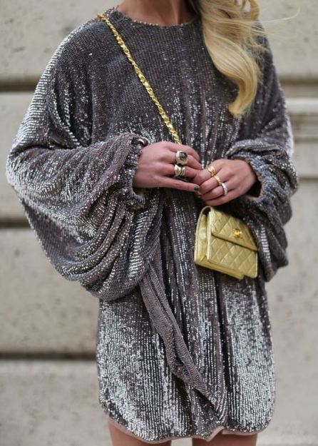 I love this silver sequin dress!