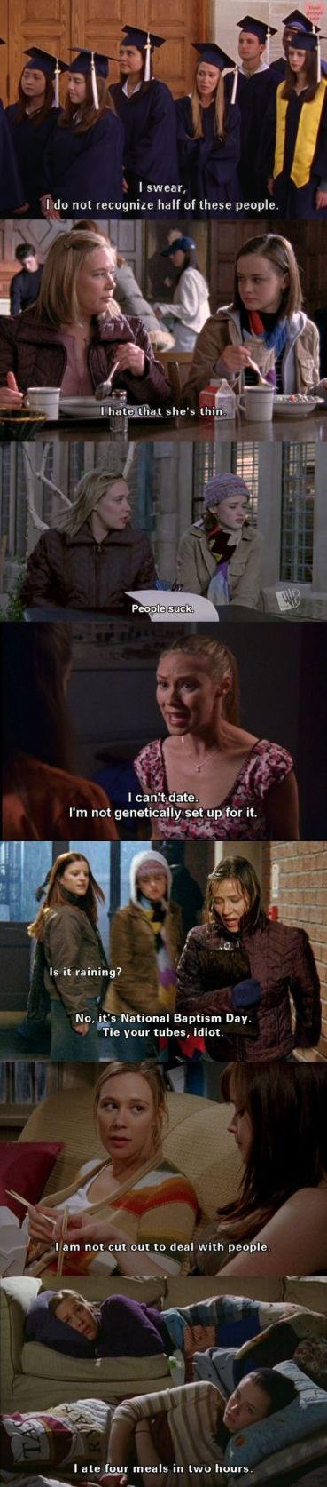 I love the Gilmore Girls Quotes!