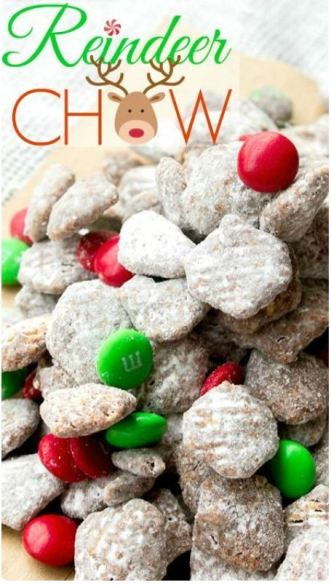 This reindeer puppy chow looks delicious!