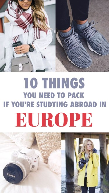 If you're about to study abroad in Europe for the semester, no problem, we have a list of all the things you need to pack!