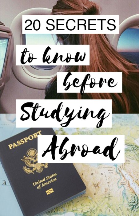 These are all the secret you need to know before you study abroad!