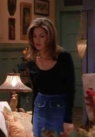 Denim mini skirts were a huge hit in the 90s thanks to Rachel Green from Friends