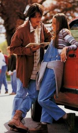 Overalls were a huge trend in the 90s!