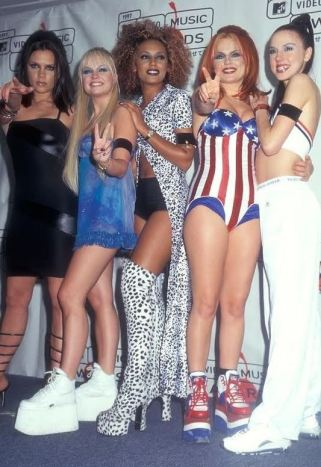 The Spice Girls had amazing 90s style and platform shoes!