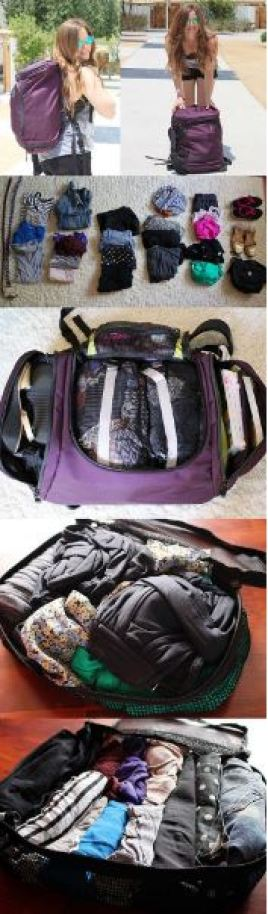 This backpack is great for traveling or studying abroad!