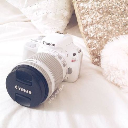 This white canon camera is so cool!