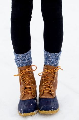 These winter duck boots are so cute!