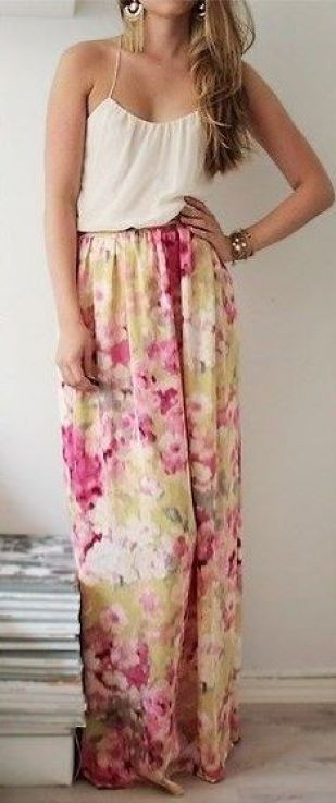 This floral maxi dress is beautiful for the spring!