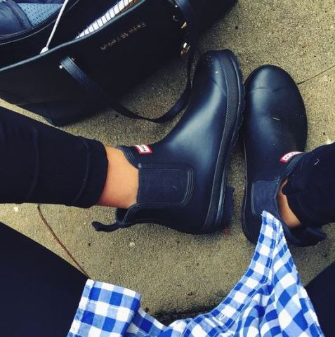 These hunter rain boots are so cute!