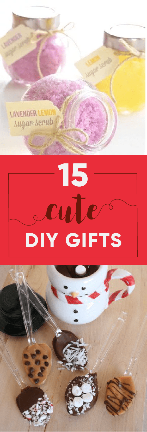 What's better then a gift? A gift created by you. We have 15 DIY gift ideas for you!