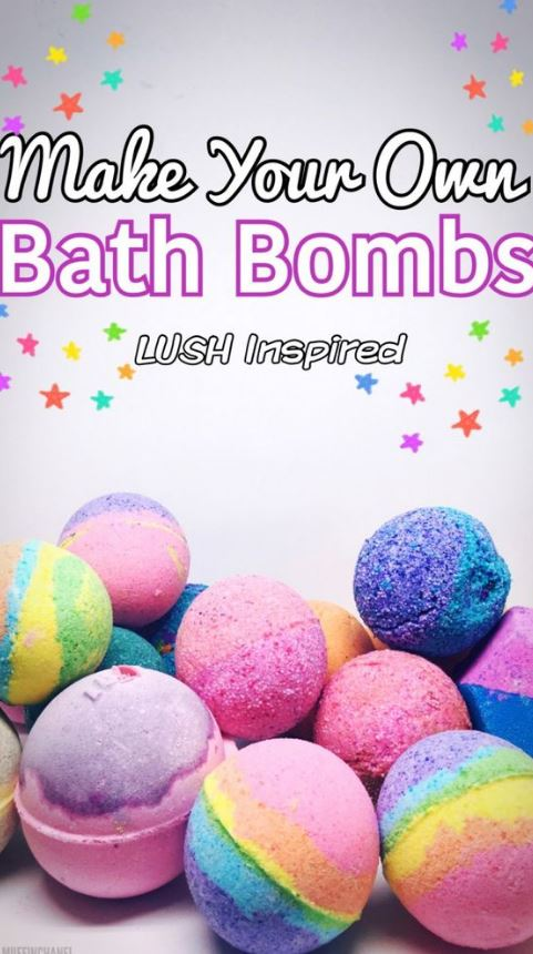 These lush inspired bath bombs are such cute DIY gifts!