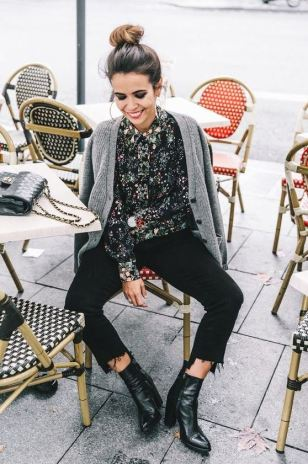 Winter florals are perfect for winter date night outfits!