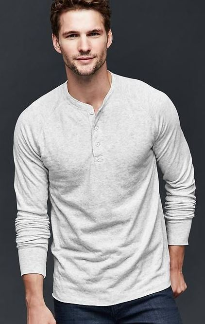 This henley looks so good!