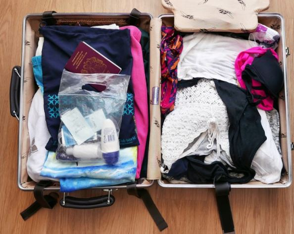 Bringing a garbage bag is a great tip for how to pack for spring break in a carry on!