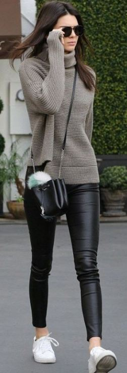 20 Ways To Wear Leather Leggings With Your Outfit