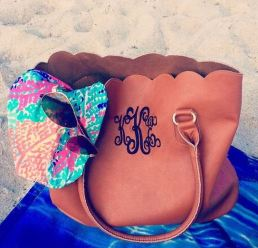 This monogrammed tote is so cute!