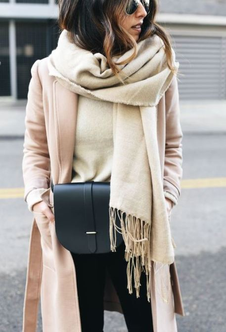 Pairing neutrals together is perfect for winter date night outfits!