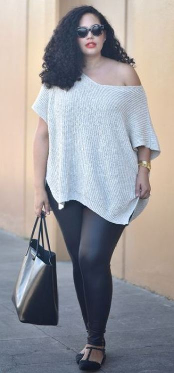 This leather leggings outfit is so cute!